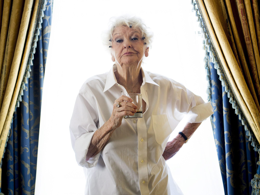 Elaine Stritch poses for a photograph during the 2012 Toronto International Film Festival in Toronto.