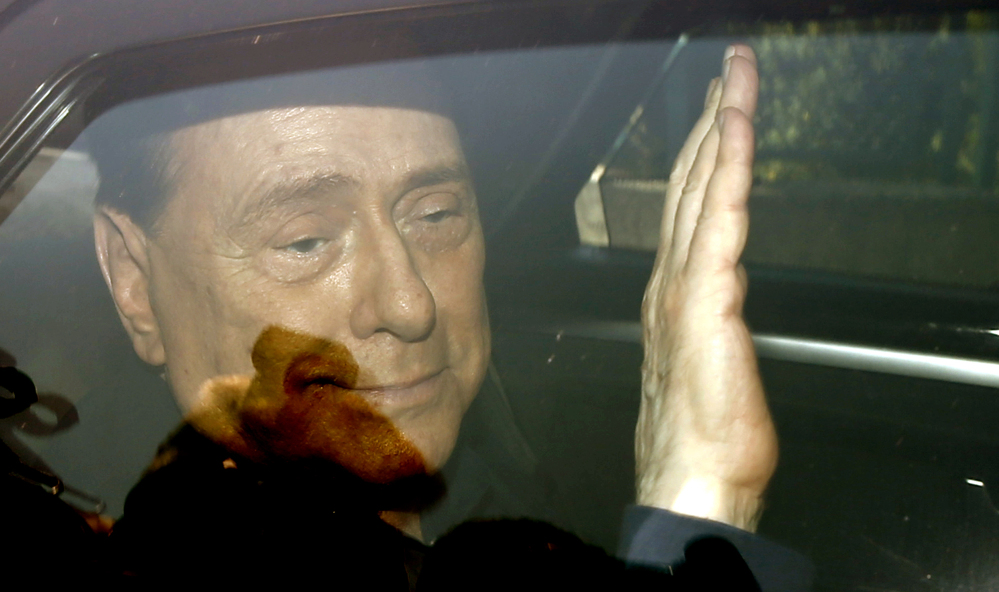 Italy's former Premier Silvio Berlusconi was acquitted Friday in a sex-for-hire case. The Associated Press