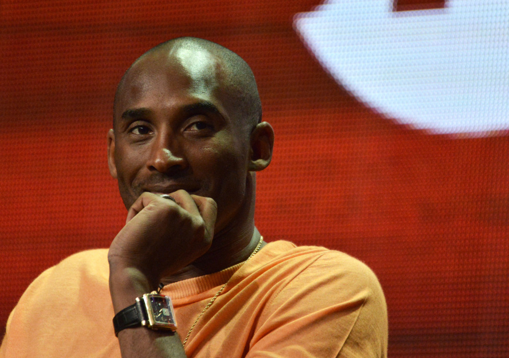 "Kobe Bryant speaks during the ""Kobe Bryant's Muse"" panel at The Showtime 2014 Summer TCA held at the Beverly Hilton Hotel on Friday. The Associated Press"