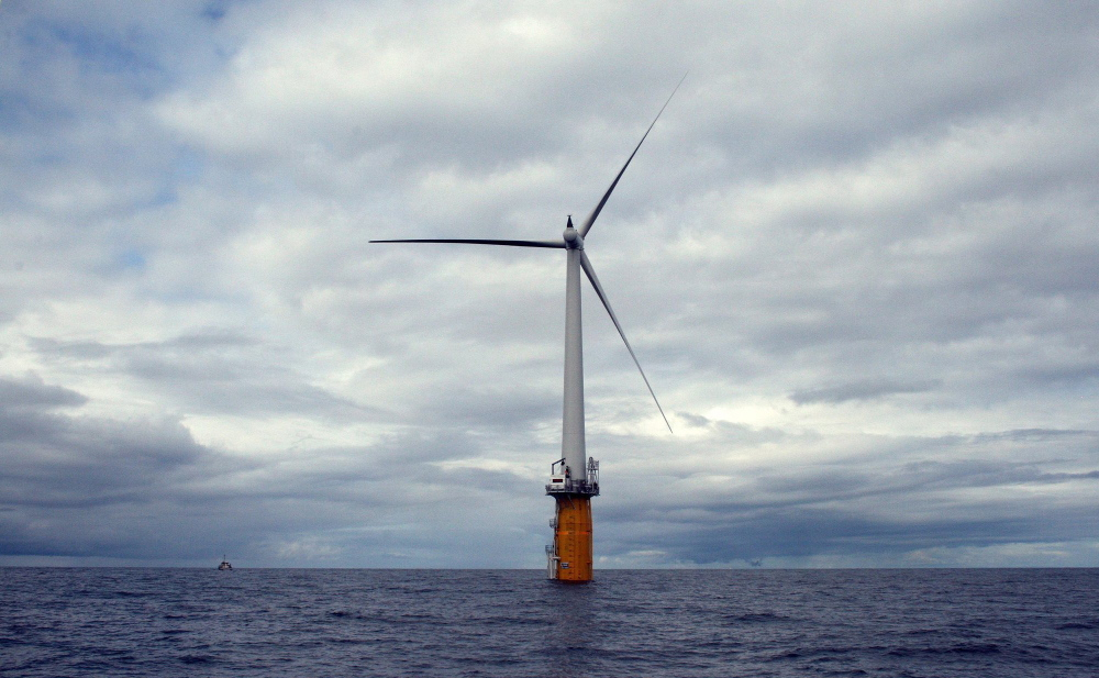 This turbine 12 miles off the coast of Norway shows turbine technology similar to what the company wanted to build in Maine waters.
