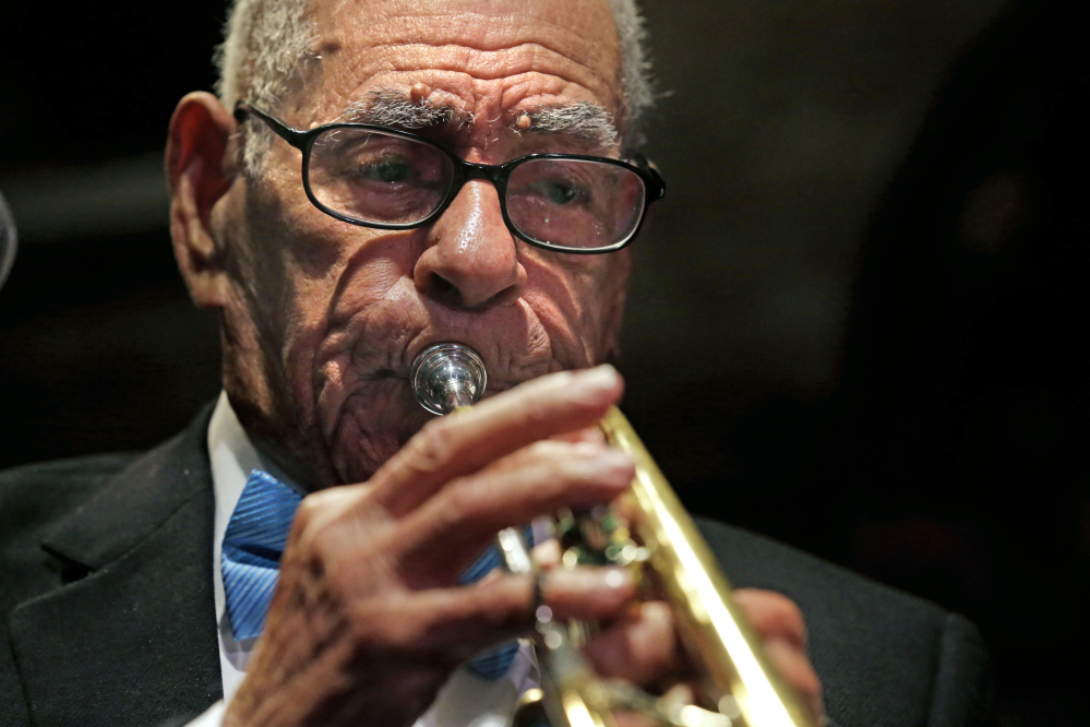 Dixieland jazz musician Lionel Ferbos performs at his 102nd birthday party at the Palm Court Jazz Cafe in New Orleans in July 2013. Lionel Ferbos died Saturday at his home in New Orleans, according to a family friend. He was 103.