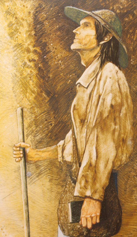 This painting is said to be the most realistic representation of Johnny Appleseed.