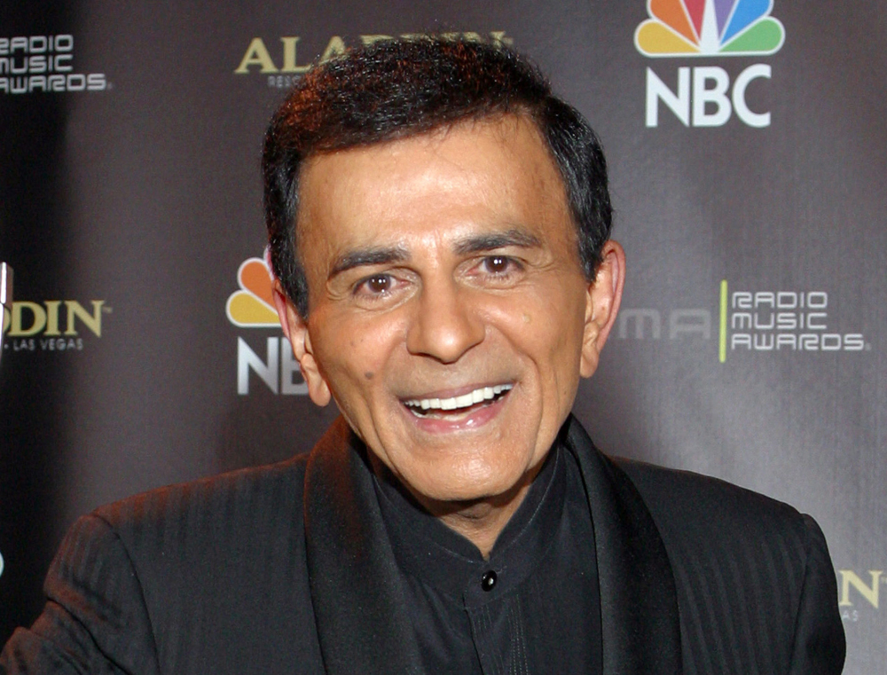 """Casey Kasem poses for photographers after receiving the Radio Icon award during The 2003 Radio Music Awards at the Aladdin Resort and Casino in Las Vegas on Oct. 27, 2003. A judge in Washington state has granted Kasem's daughter a temporary restraining order preventing the famous radio host's wife from cremating or removing his remains from a funeral home. Kasem, the radio host of """"American Top 40"""" and voice of animated television characters like Scooby-Doo's sidekick Shaggy, died June 15, 2014, at a hospital in Gig Harbor, Wash."""