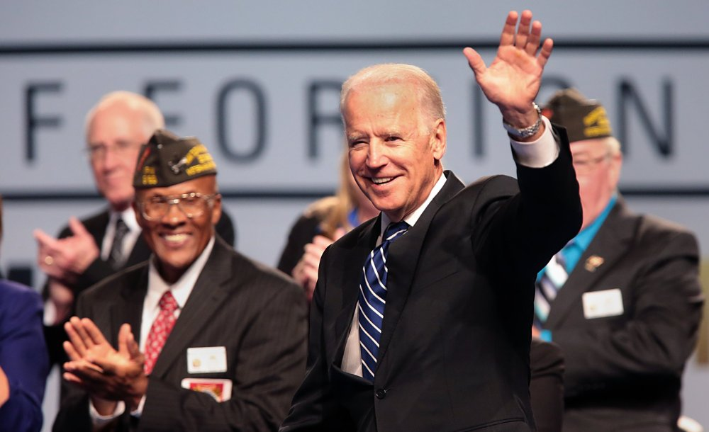 Vice President Joe Biden greets members of the Veterans of Foreign Wars at the VFW National Convention in St. Louis on Monday, where Biden was addressing the convention.