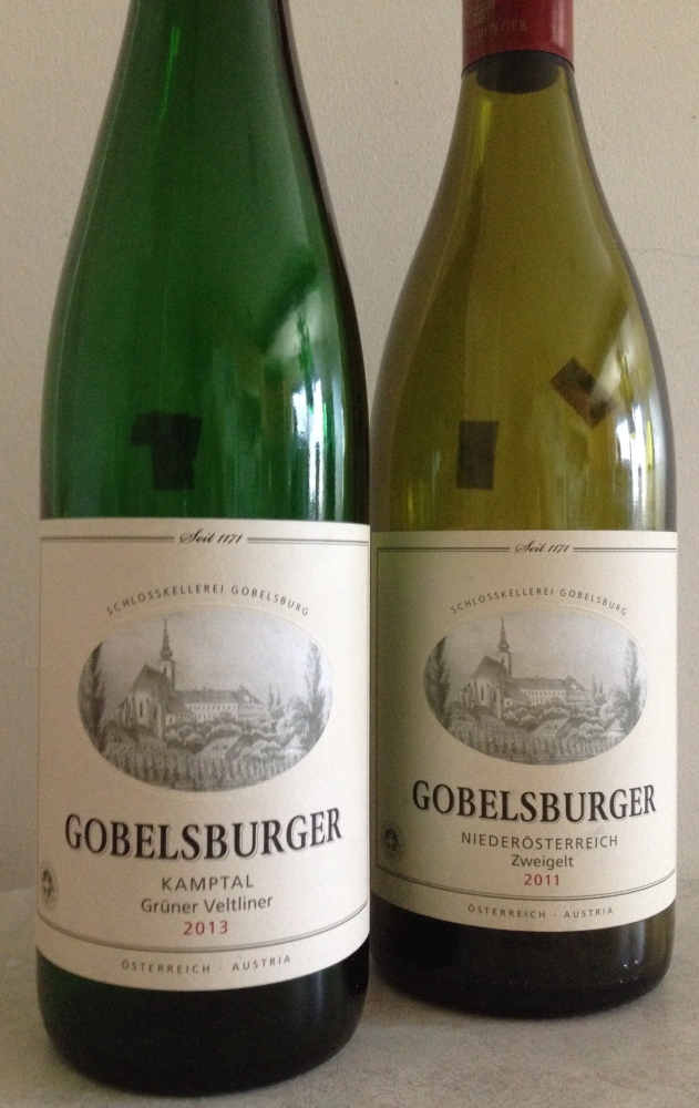 The Gobelsburger Grüner Veltliner Kamptal's intensely mineral cut is offset by tangerine and apple, spice and salt. The Zweigelt feels more mature and long-lived than other Zweigelt wines.