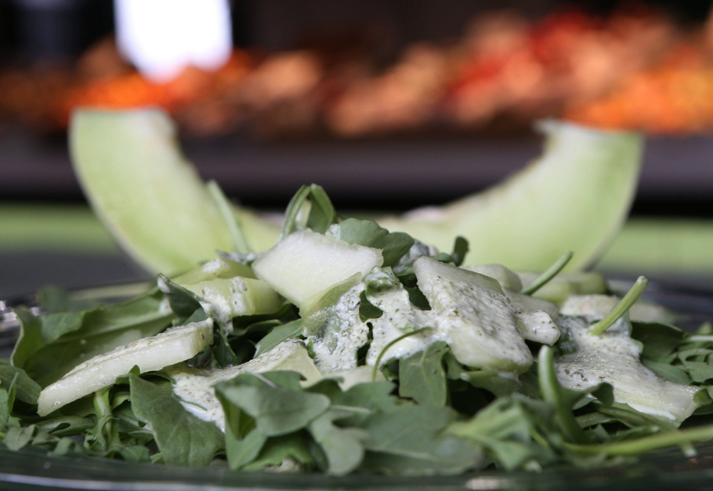 Honeydew and Arugula Salad.