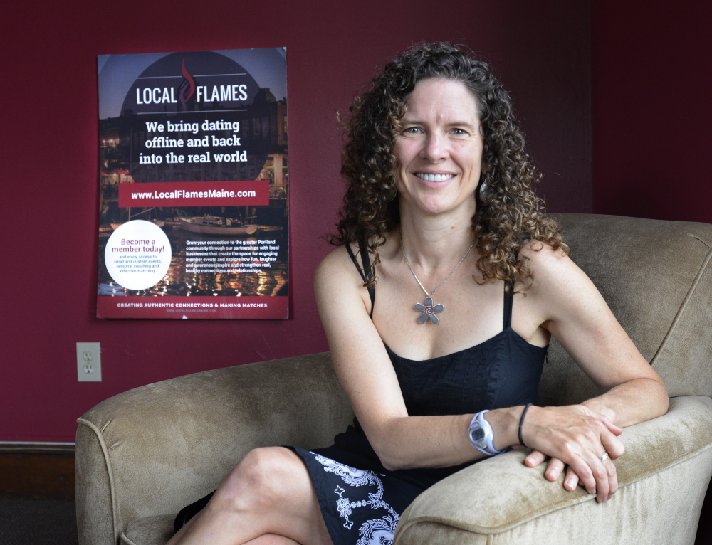 Erin Oldham is founder of the Local Flames dating service, which has 240 members so far and employs eight people.