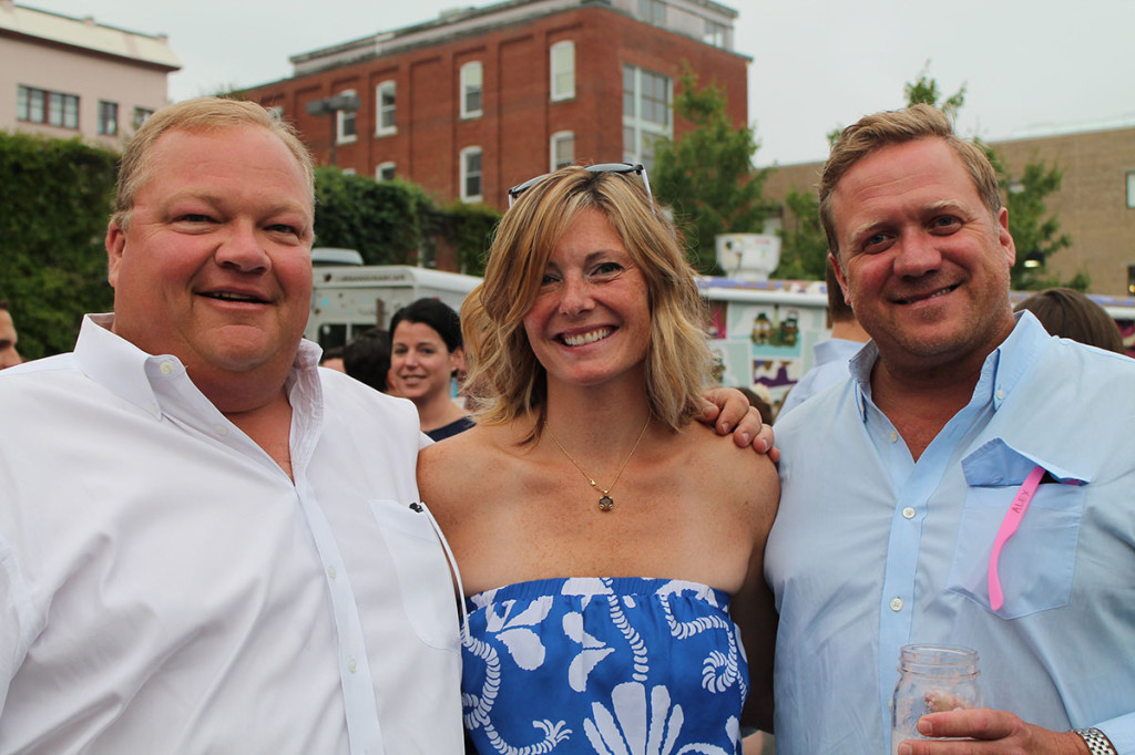 Left to right: Chris Robertson, a founding member of The Contemporaries and museum trustee, with Brianne O'Donnell of Portland and fellow trustee Alex Fisher.