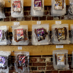 Jerky on display at the Old Port House of Jerky Thursday. Shawn Patrick Ouellette/Staff Photographer