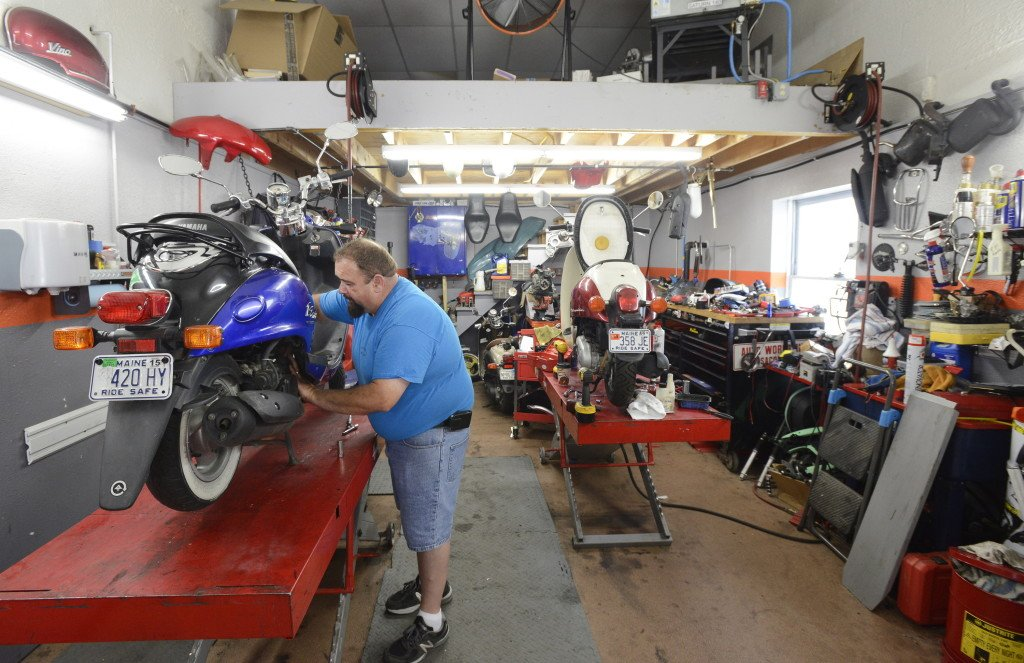 scooters take maine fans young and old for a ride portland press rh pressherald com scooter repair shops near me scooter repair shops las vegas