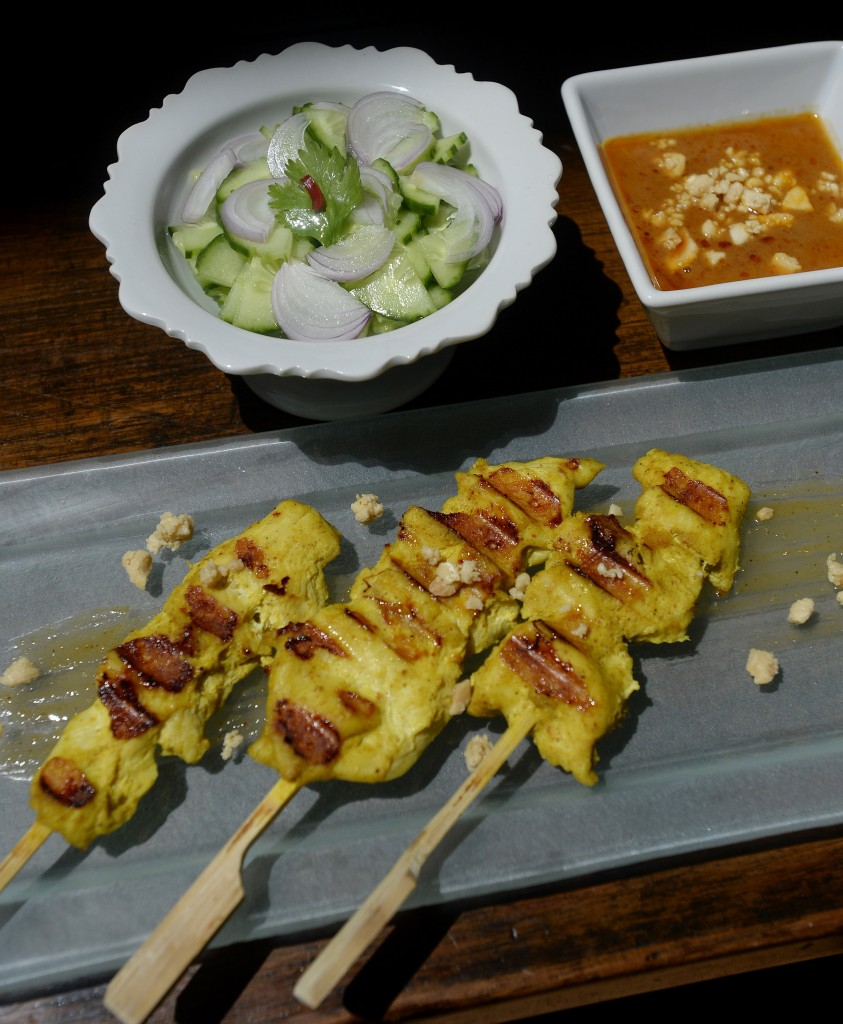 Thai chicken satay.