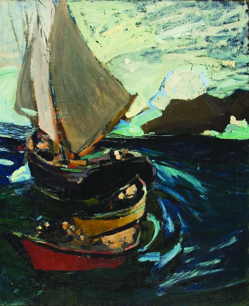 "Eric Hudson's ""Heavy Seas"" Courtesy The Monhegan Museum"