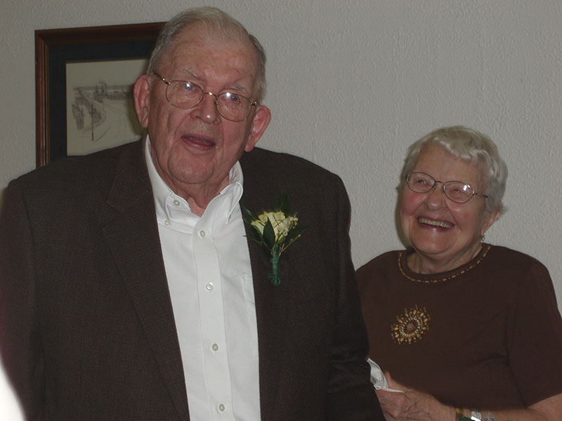 Kenneth Libby and his wife, Maudie, pose during their 65th wedding anniversary. Family photo
