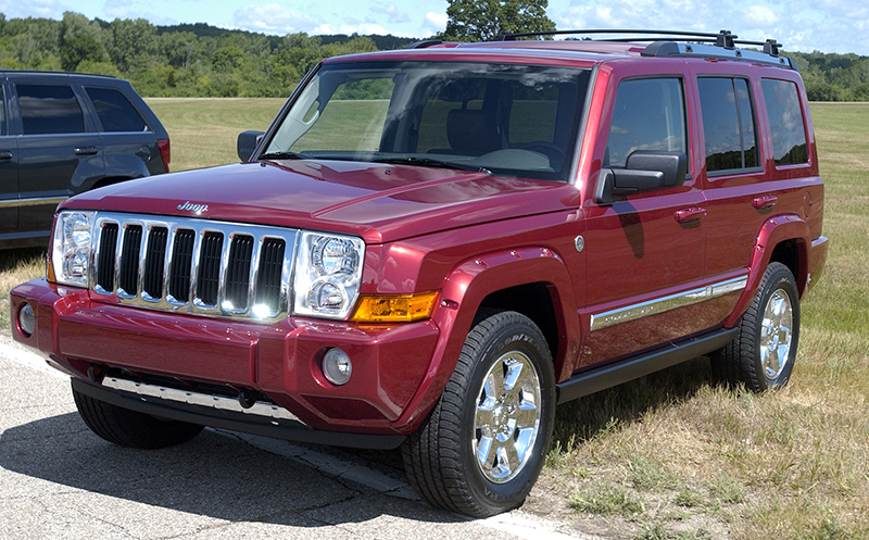 In this Thursday, June 16, 2005 file photo, the 2006 Jeep Commander sits on display at Chelsea Proving Grounds in Chelsea, Mich. The Associated Press