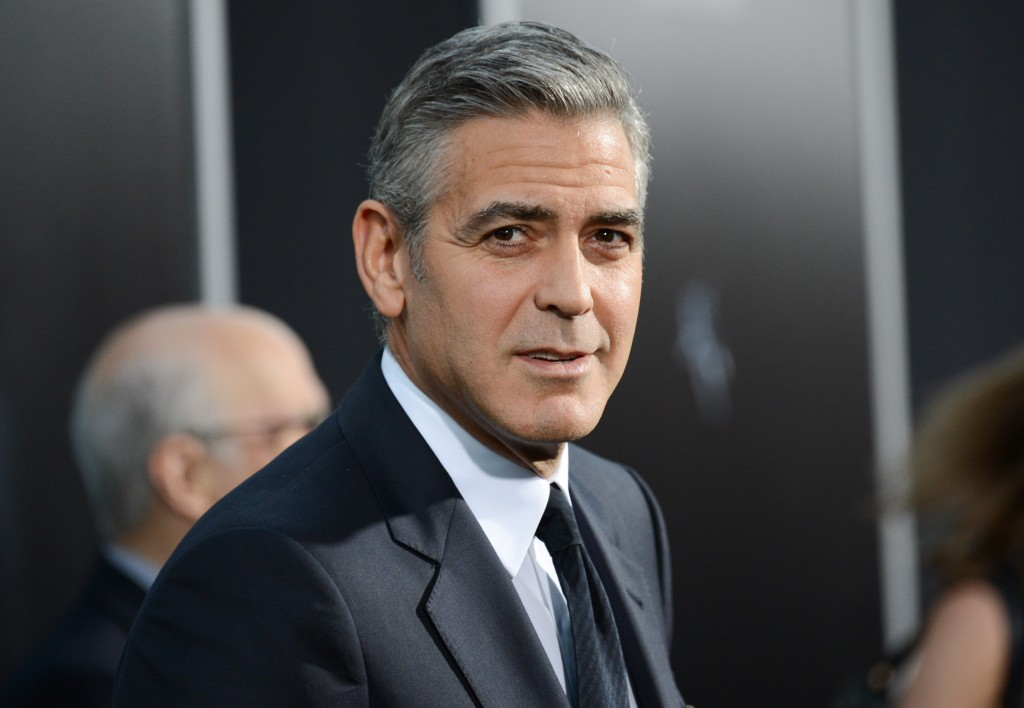 Actor George Clooney attends the premiere of