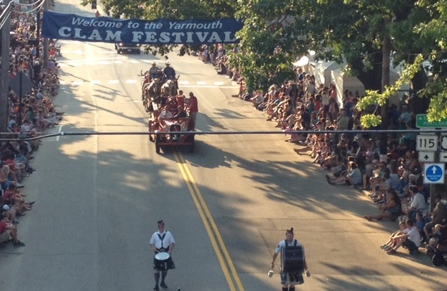 The Yarmouth Clam Festival parade moves along Friday.