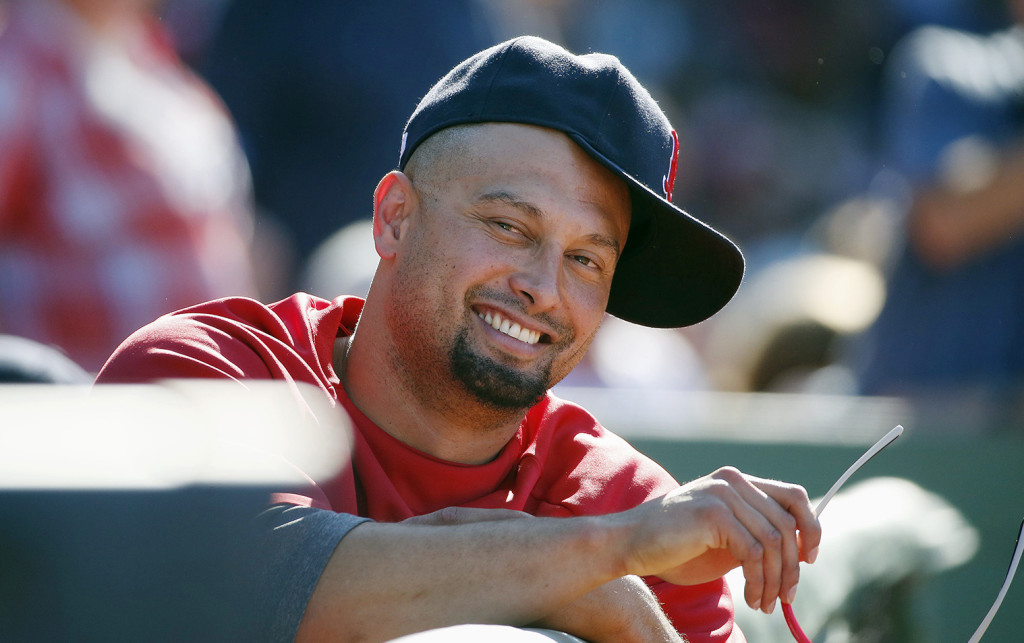 Shane Victorino watches from the dugout during al game against the Baltimore Orioles on July 6. The Associated Press
