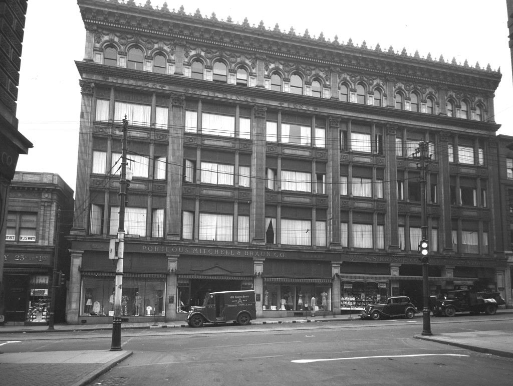 Flashback: Porteous Department Store, now Maine College of Art, in 1938. Courtesy of Portland Public Library Special Collections & Archives.