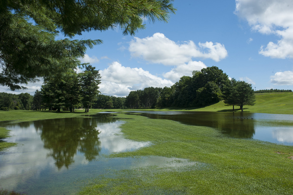 Heavy rain from Wednesday night left the fairways of the North Course at Riverside Municipal Golf Course completely submerged and the course closed until further notice.