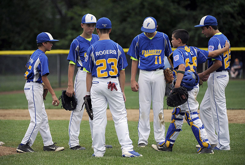 The Maine infield during a Sunday Vermont win over at Breen Field in Bristol. Mike Orazzi/Special to the Press Herald