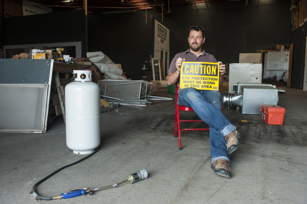 Jake Ryan has plans for a wood shop, electronics station and metal-working area in the 7,000-square-foot space he's leased for his Open Bench Project.