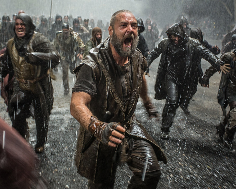 "Russell Crowe faces disaster in ""Noah."""