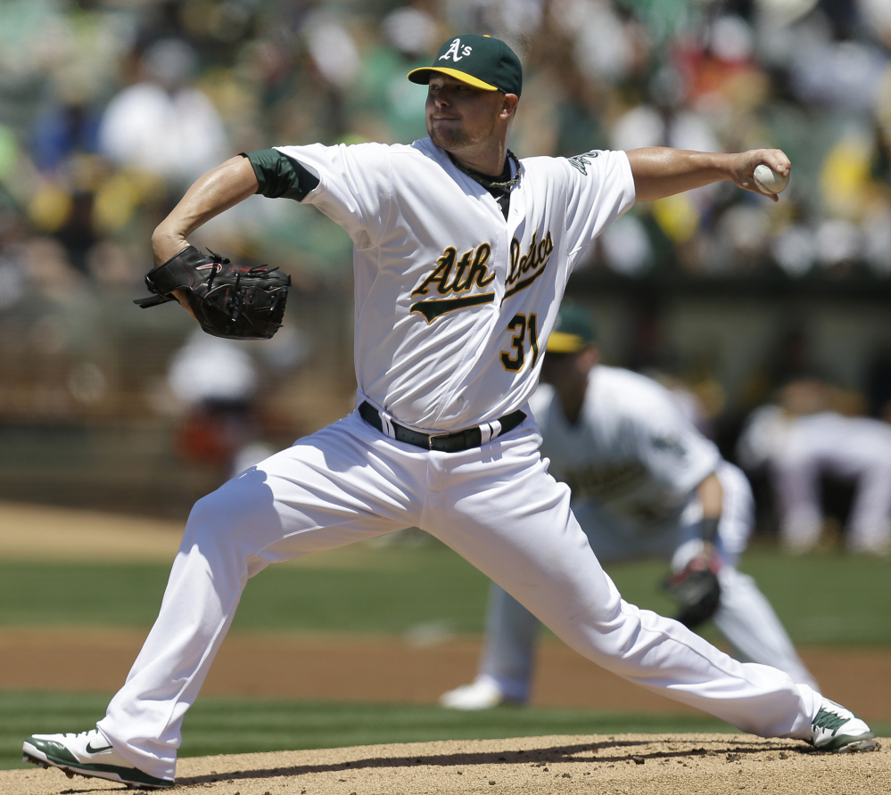 Jon Lester was in fine form for his debut with Oakland on Saturday in an 8-3 victory over the Kansas City Royals. Lester gave up three runs in 6  innings.