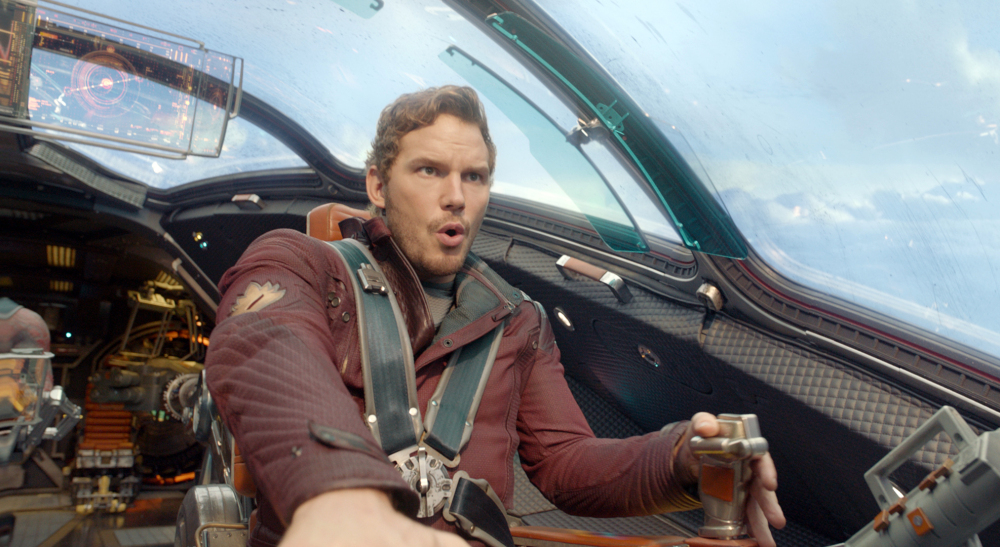 "In ""Guardians of the Galaxy,"" actor Chris Pratt plays Peter Quill, an American pilot who becomes the target of an unrelenting bounty hunt after stealing a mysterious orb."