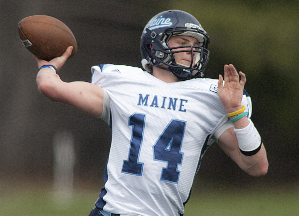 Dan Collins will be the University of Maine's quarterback when the season opens Saturday.