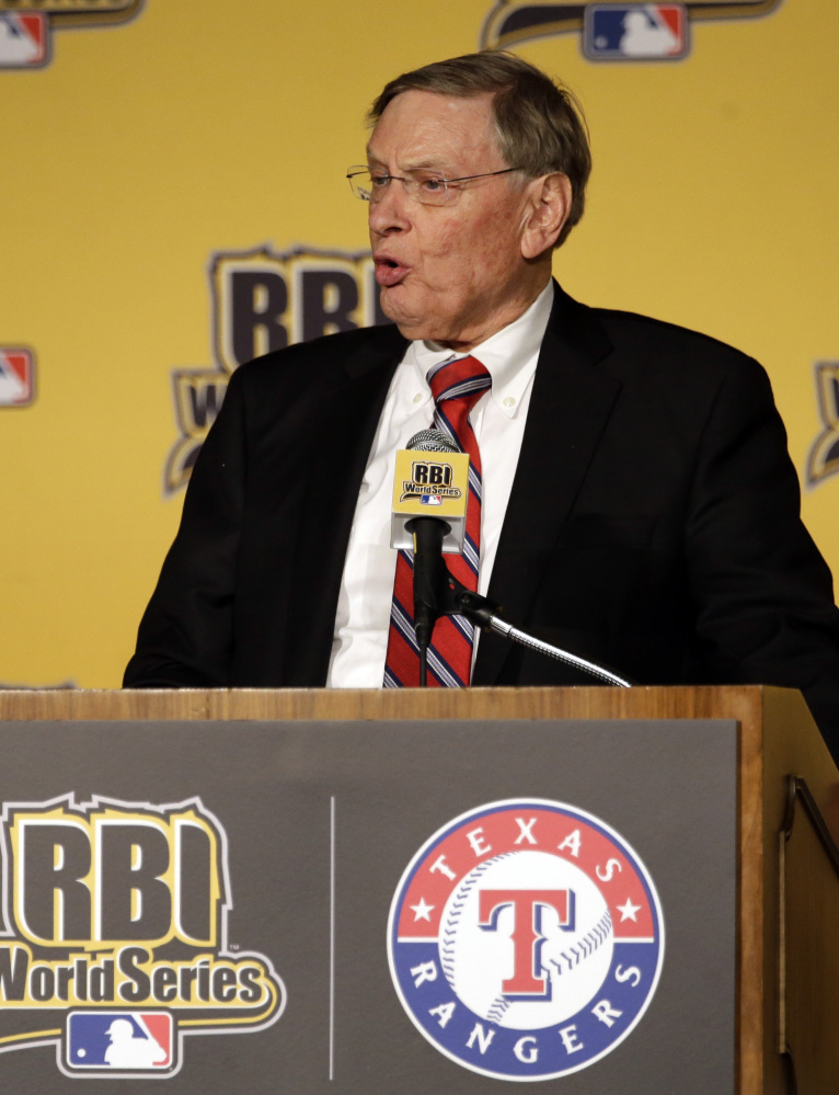 Baseball Commissioner Bud Selig, who is retiring in January, says there's a list of three candidates to replace him.