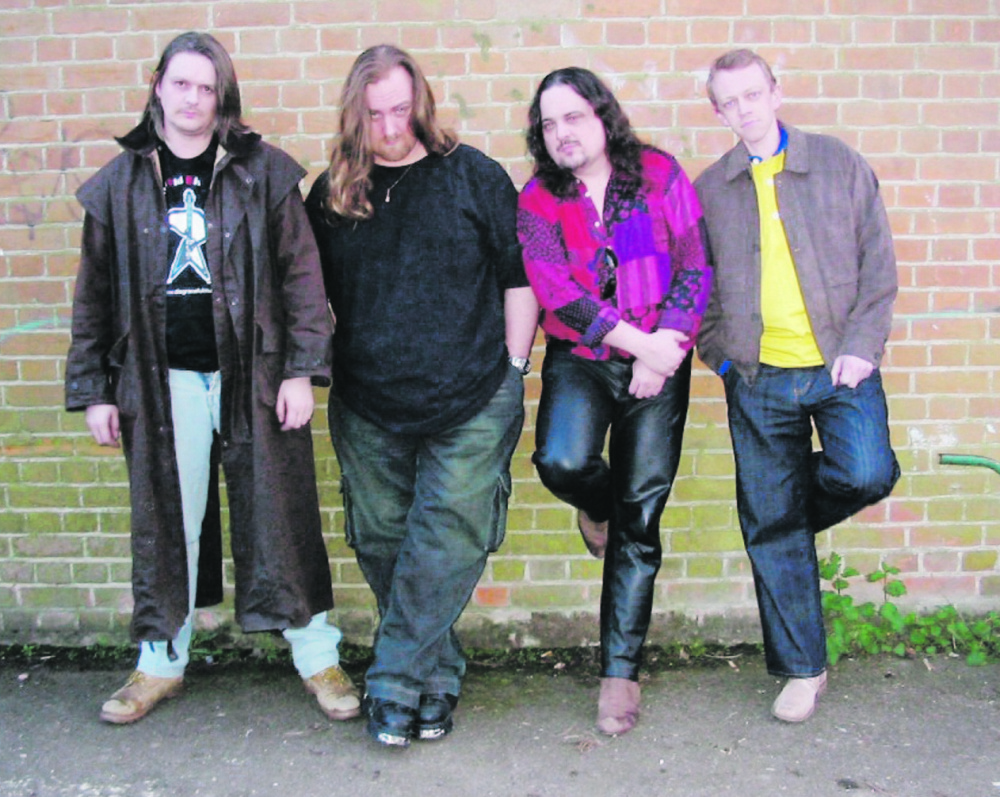 """Dodge with his band. """"Music was how he relaxed,"""" Kim Dodge said."""