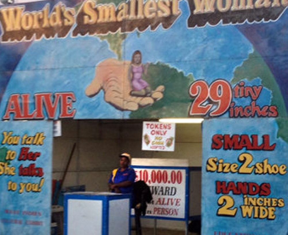 The show won't go for the World's Smallest Woman exhibit at the Boulder County Fair in Longmont, Colo.