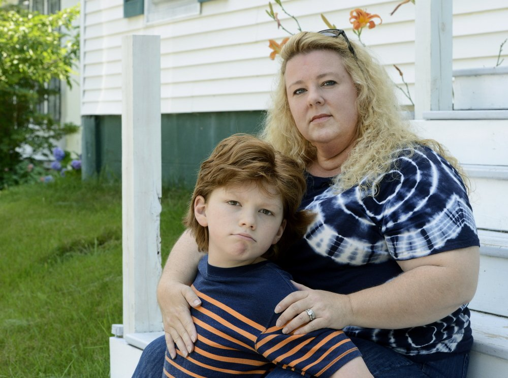 "Ginger Taylor, an anti-vaccine advocate from Brunswick, describes her autistic son Chandler, now 12, as ""a vaccine-injured child."""