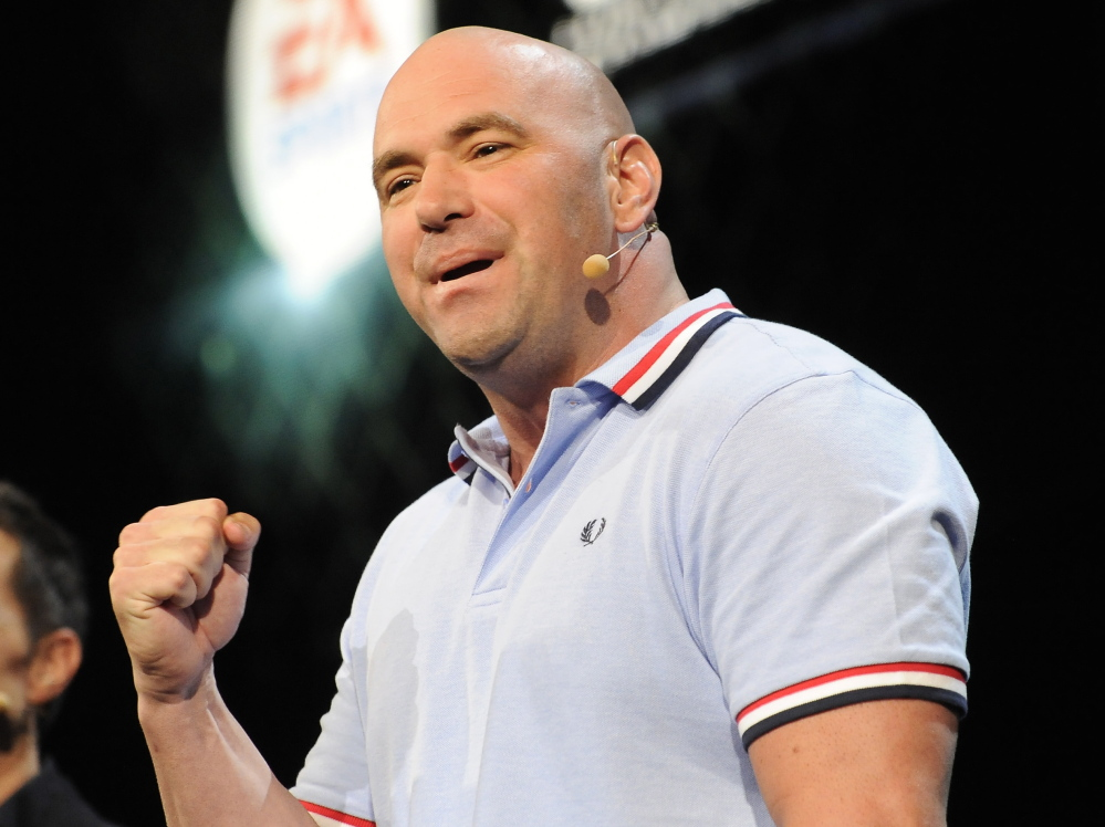 UFC President Dana White graduated from Hermon High in 1987. He was determined to bring UFC to Bangor when the Cross Insurance Center was built and will do so Saturday.