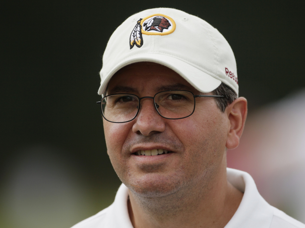 Washington owner Dan Snyder has vowed never to change his football team's name.