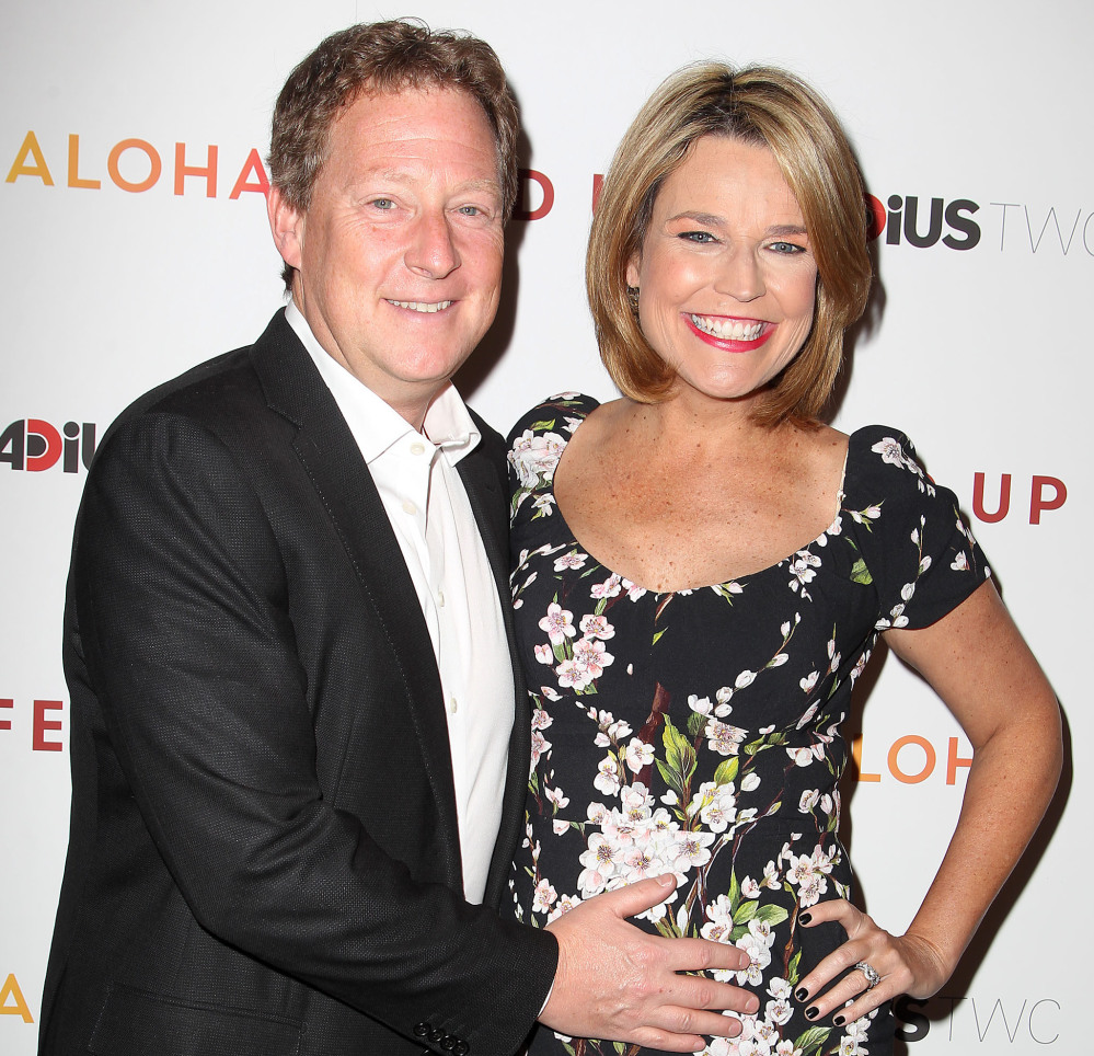 "Michael Feldman and Savannah Guthrie attend May's ""Fed Up"" premiere."