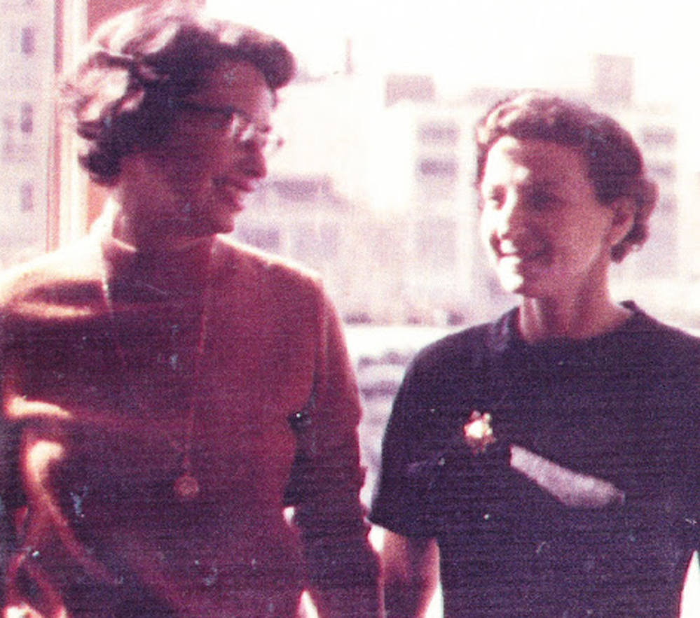A photo provided by Gerber, left, and Berlin shows the couple in 1967.