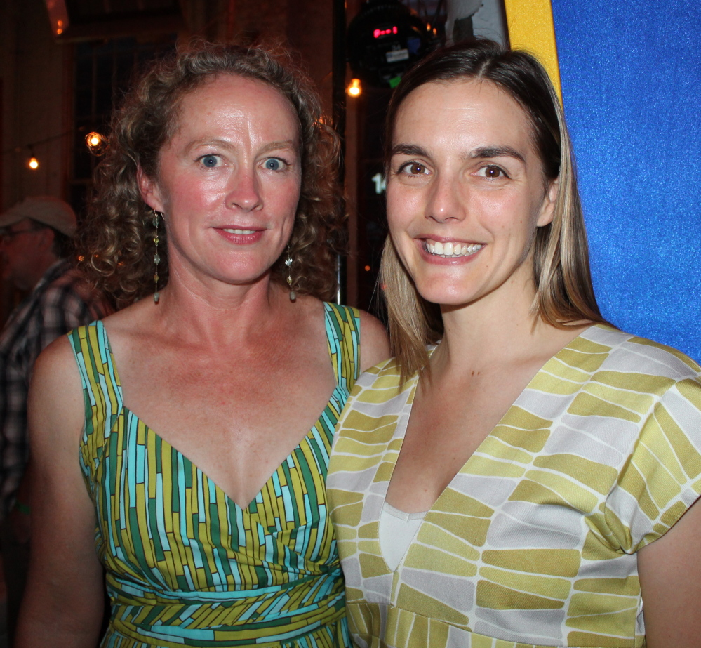 Designer Angela Adams with Betsy Tesh, who manages contract and trade sales at Angela Adams. Margaret Logan photo