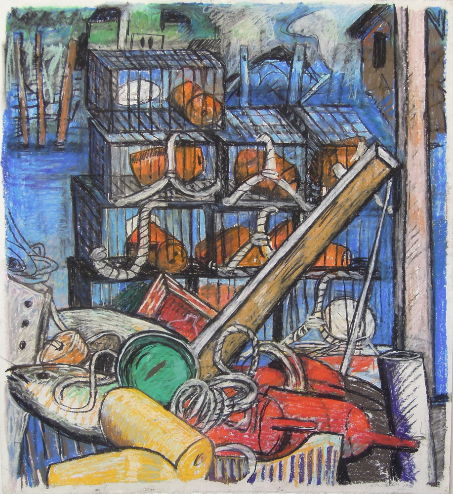 """""""On the Pier,"""" 1993. Courtesy  of Greenhut Galleries"""
