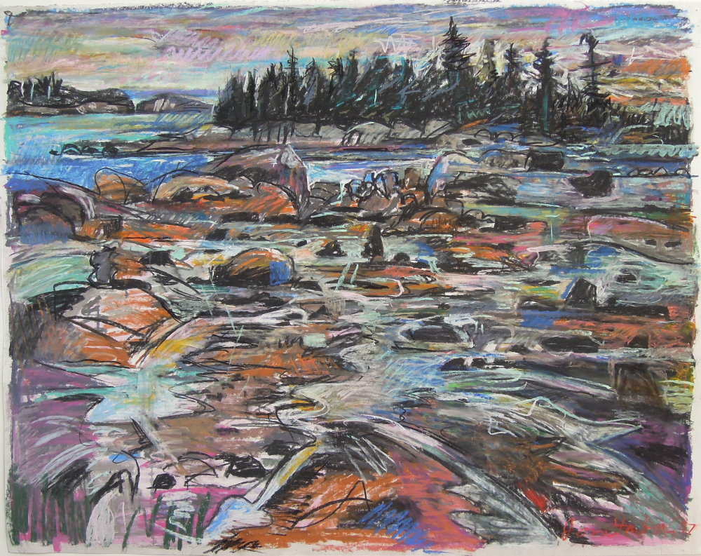 "Above, ""Sunset, Fifield Point,"" 1997"