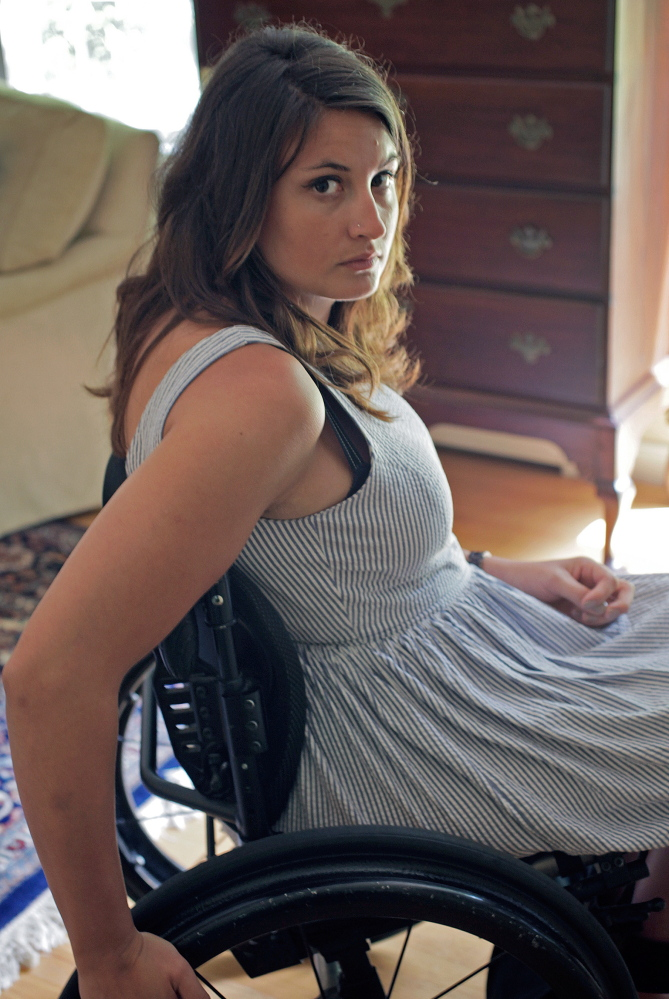 """I wouldn't wish this (burn injury and the aftermath) on my worst enemy,"" Emma Verrill said recently during an interview at her parents' home in Yarmouth."