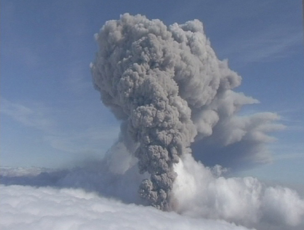 Iceland's Eyjafjallajokul volcano spouts ash in 2011. Small intense earthquakes are rocking Iceland.