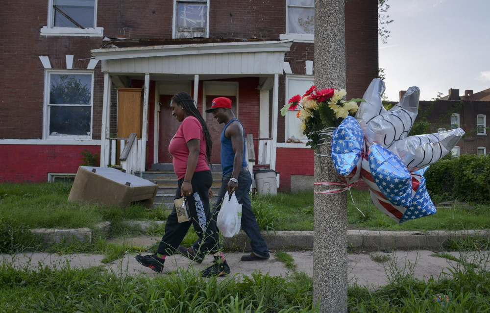 Urban blight is all too common in the minority neighborhoods north of Delmar Boulevard, where property values suffer as houses go foreclosed and buildings go unmaintained where incomes are low and good jobs are few.