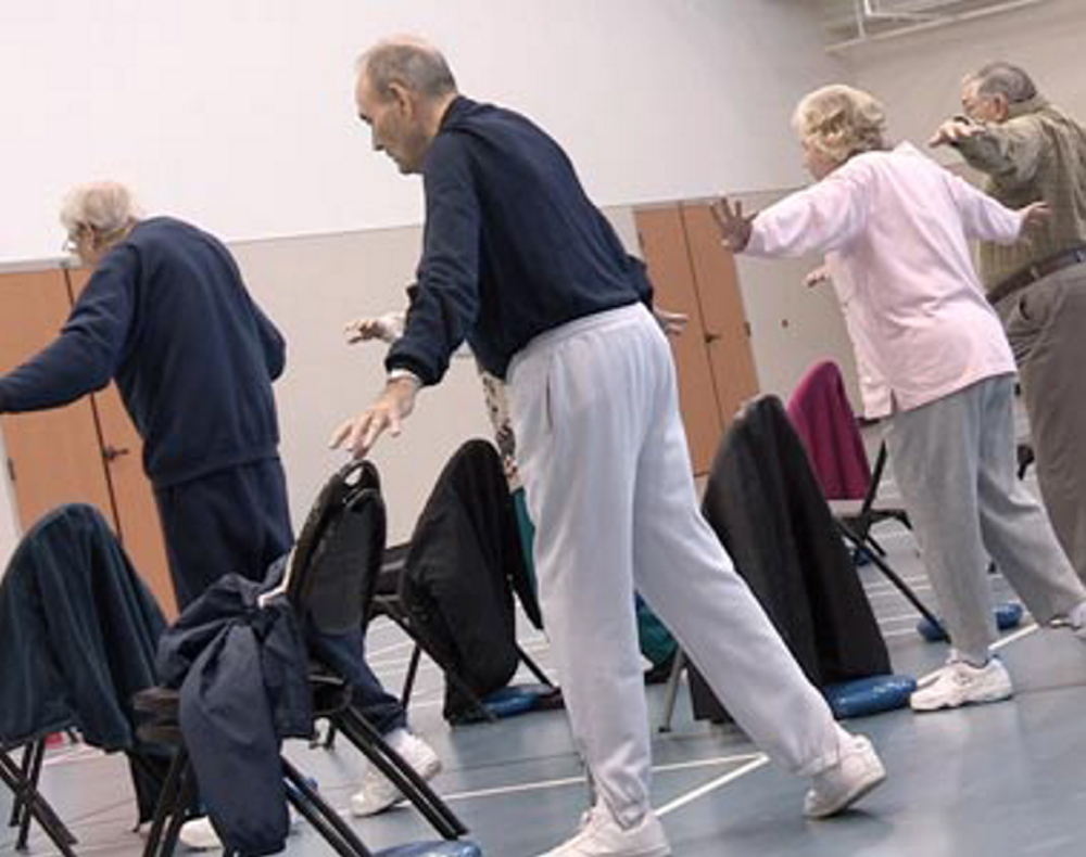 """Seniors participate in """"A Matter of Balance"""" program designed to help individuals overcome a fear of falling. Spectrum Generations is accepting registrations for a similar class to be held at Mid Coast Senior Health Center in Brunswick in September."""