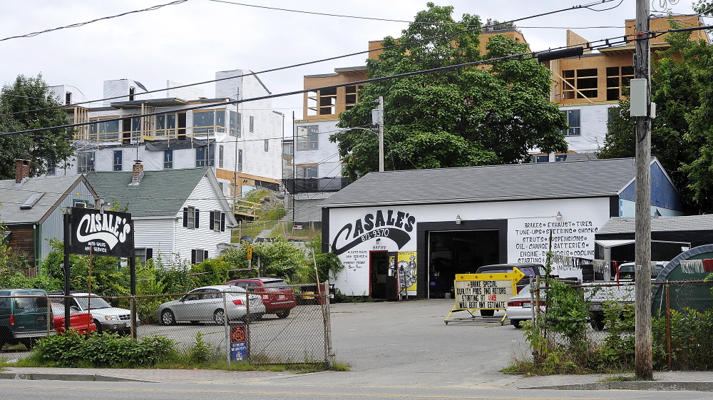 Developers hope to build East Cove Townhomes at 145-155 Washington Ave. in Portland.