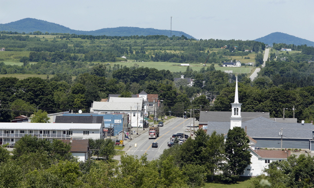 PATTEN, ME - June 19: The town of Patten would benefit from increased tourists if a national park were created in the nearby Katahdin Woods & Waters land. (Photo by Gregory Rec/Staff Photographer)