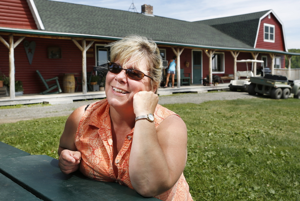 Businesswoman Terry Hill, who owns and runs Shin Pond Village with her husband Craig, thinks that bringing in more tourists to Maine's North Woods would be an economic booster shot.