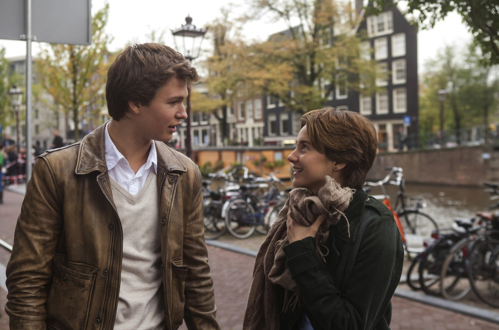 """Ansel Elgort and Shailene Woodley in """"The Fault in Our Stars.'"""