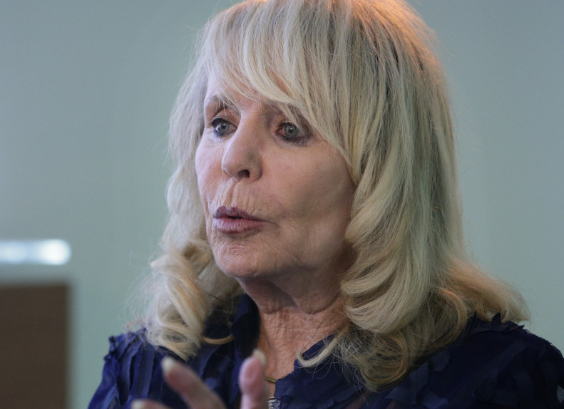 Shelly Sterling, wife of former Los Angeles Clippers owner Donald Sterling, speaks in an interview with The Associated Press on Thursday in Los Angeles. Shelly Sterling negotiated a landmark deal for $2 billion to sell the Clippers to Steve Ballmer, former CEO of Microsoft.