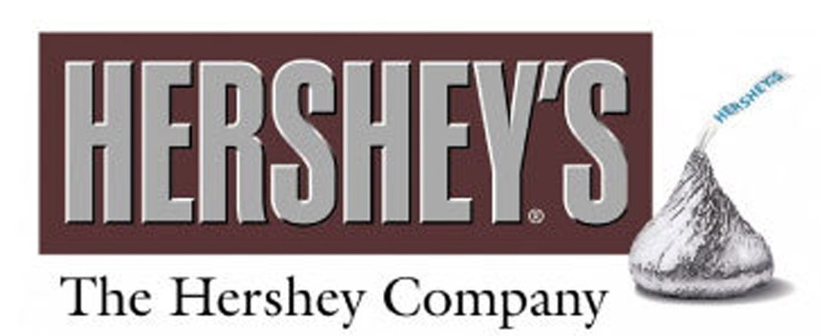 """The Hershey Company's old (above) and new (below) corporate logos are shown here. The company says it now has a """"disciplined identity system."""""""